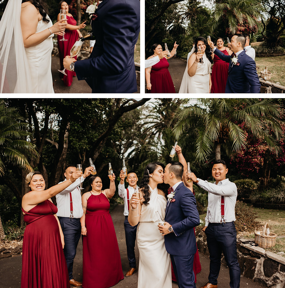 Bridal photos captured at the Kelliher Estate, Auckland, New Zealand. Wanderludting Lovers