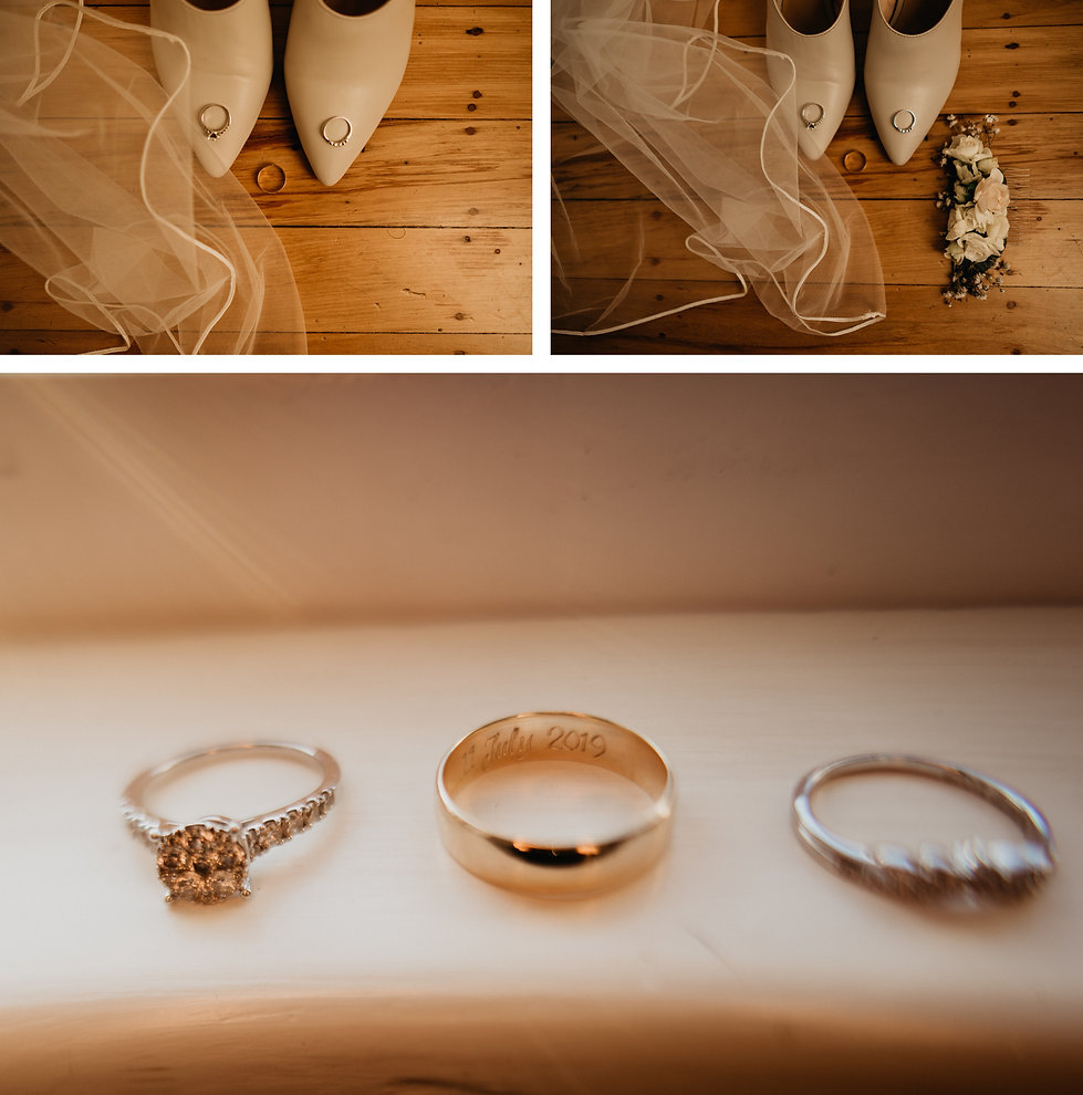 bridal shoes and rings captured by wanderlusting lovers