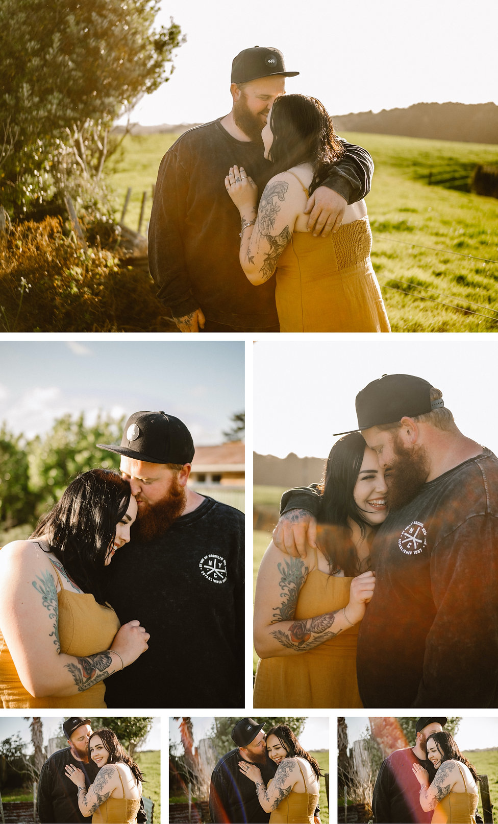 engagement session at Waiuku in Auckland, New Zealand.
