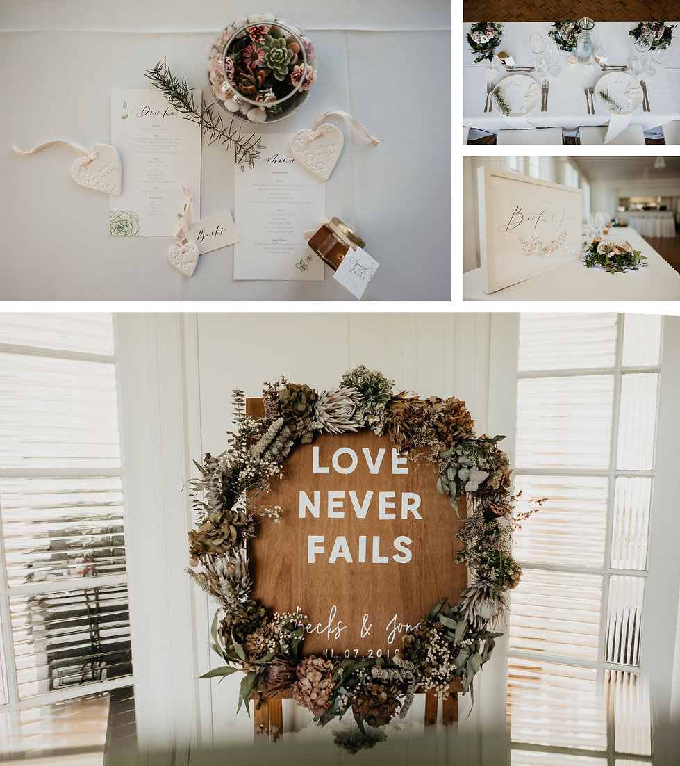 wedding stationary, wedding florals captured by wanerlusting lovers in auckland new zealand