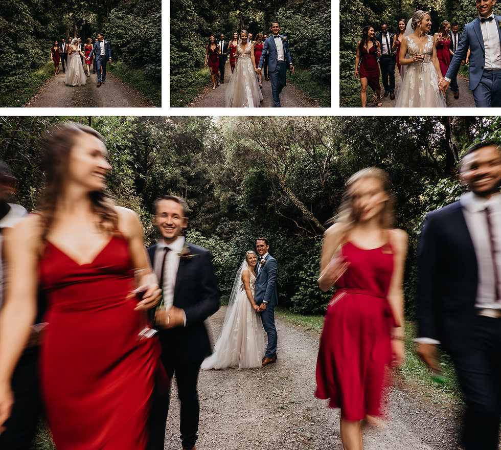 bridal party captured at rose & smith, wellington wedding venue by wanderlusting lovers