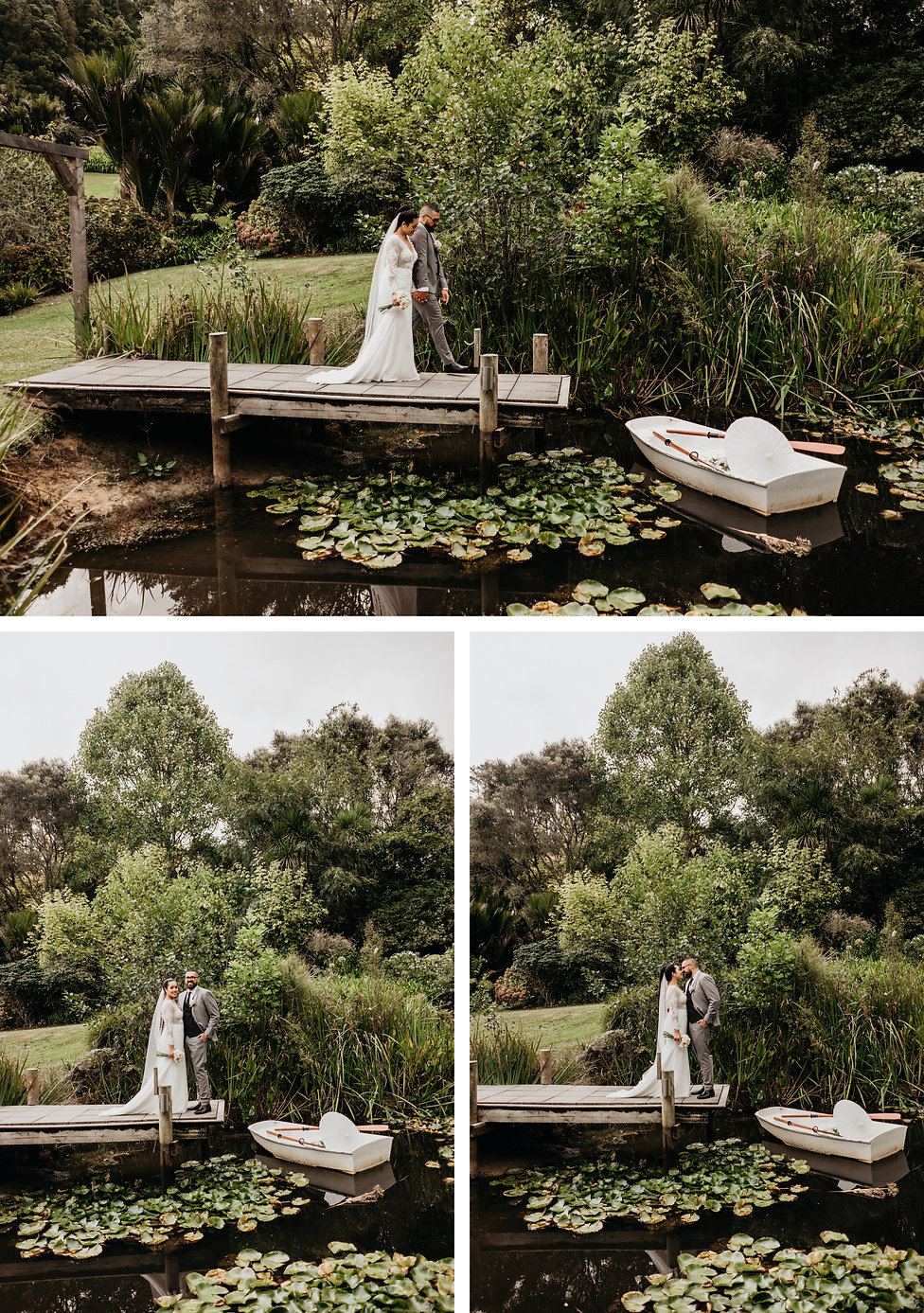 bridal photos at bridgewater estate in Auckland New Zealand, captured by wanderlusting lovers