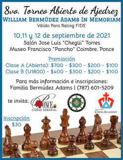8vo Torneo Abierto de Ajedrez William Be