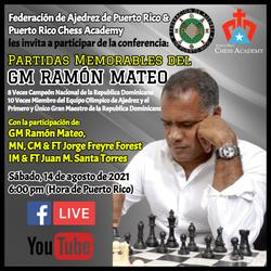 Conferencia Partidas Memorables del GM Ramon Mateo