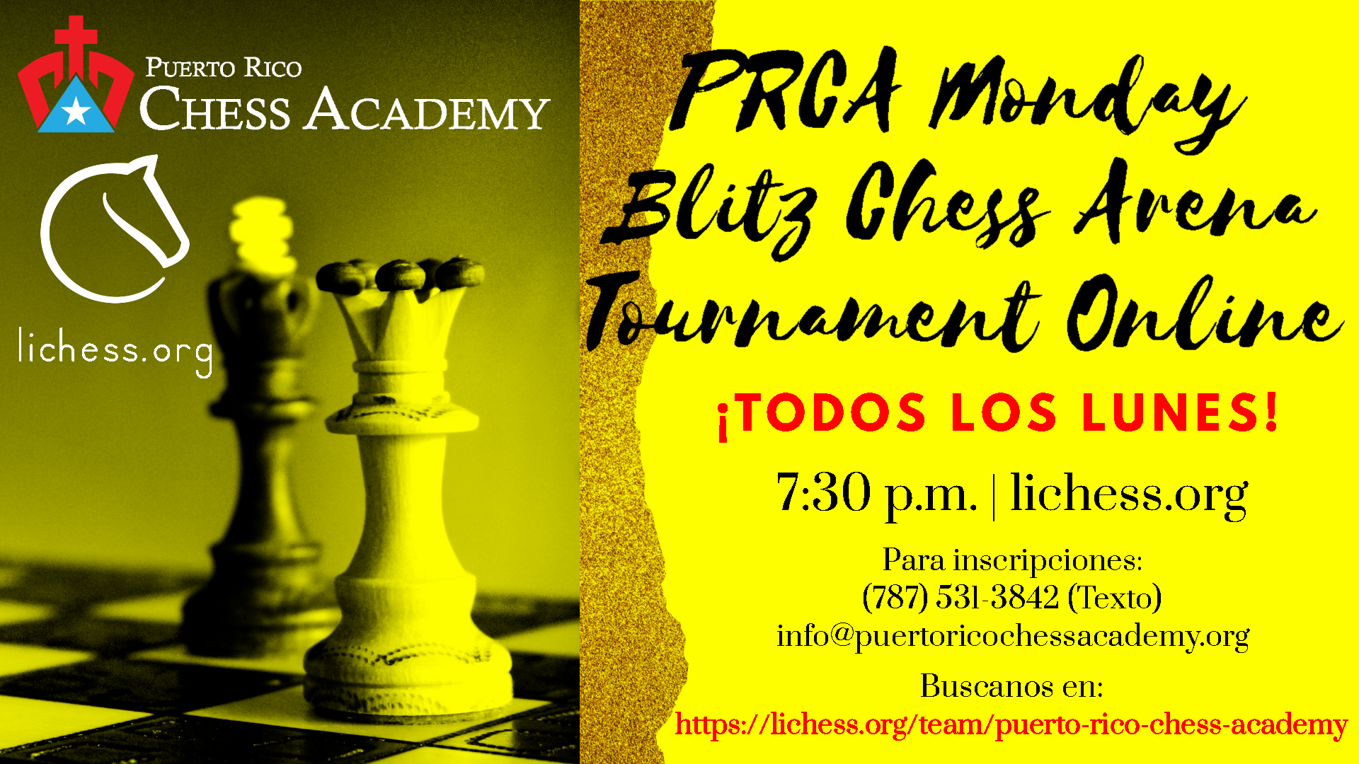 PRCA Monday Blitz Chess Arena Tournament