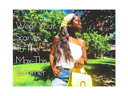 Wearing your scarves to the max this summer!