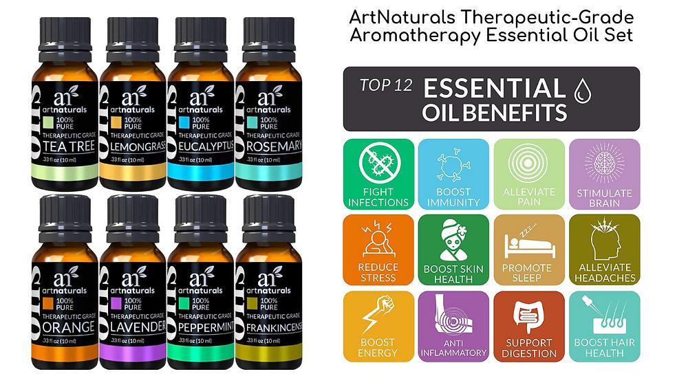 ArtNaturels Therapeutic-Grade Aromatherapy Essential Oil Set
