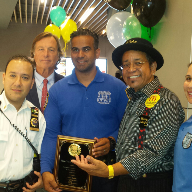 Rewarding New Yorks Finest at a McDonalds Grand Opening