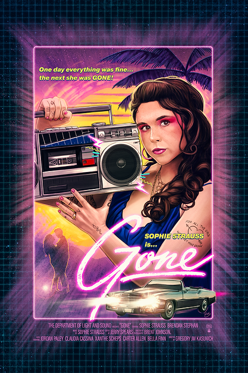 GONE - 80's Movie Poster - Signed - Limited Run of 25