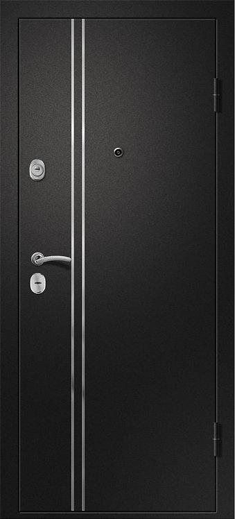 Ретвизан Медея 321 М1 (царга) входная дверь черный сатин