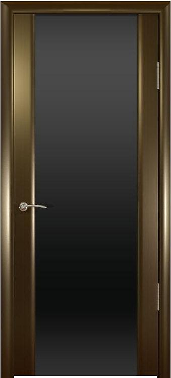Океан Шторм-3 межкомнатная дверь черное стекло