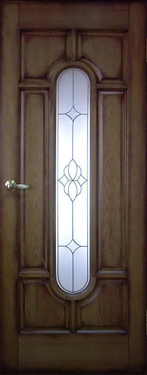 Межкомнатная дверь O-2 из массива сосны со стеклом
