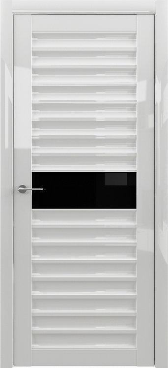Альберо Мегаполис GL Дели межкомнатная дверь черное стекло
