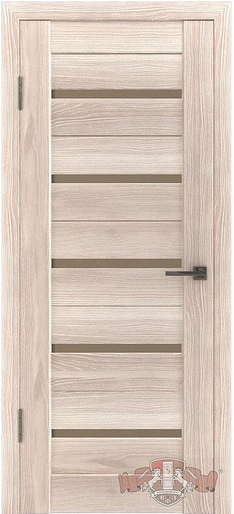 ВФД Лайн Л1ПГ1 межкомнатная дверь с матовым бежевым стеклом