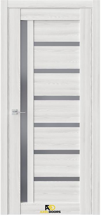 AxelDoors Q 8 межкомнатная дверь с черным стеклом