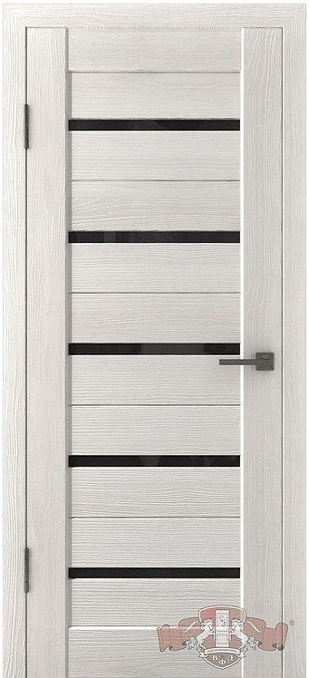 ВФД Лайн Л1ПГ5 межкомнатная дверь с черным стеклом