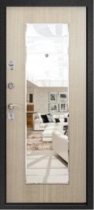Ретвизан Медея 311 (зеркало) входная дверь черный сатин