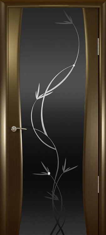 Океан Буревестник-2 Гламур межкомнатная дверь черное стекло