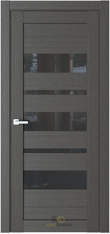 AxelDoors ЧДК R19 межкомнатная дверь с черным стеклом
