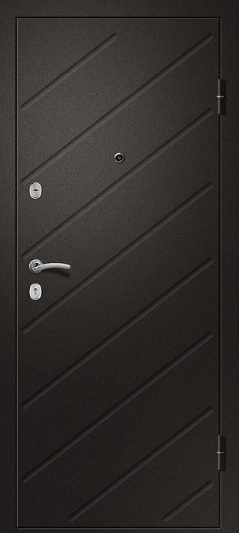 Ретвизан Ника 121 входная дверь черный сатин