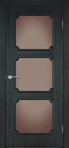 Альфа ЗА4 межкомнатная дверь со стеклом