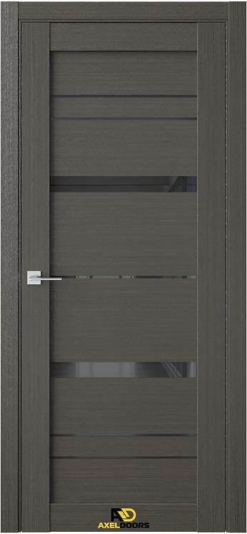 AxelDoors Q 17 межкомнатная дверь черное стекло