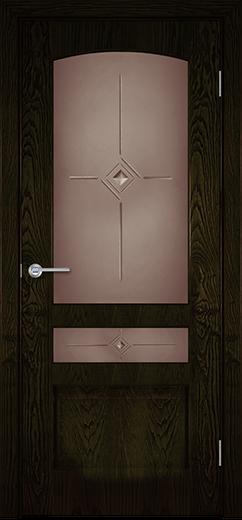 Альфа Б10 межкомнатная дверь со стеклом