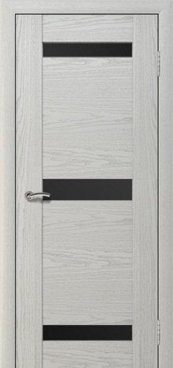 Альвион Мира межкомнатная дверь черное стекло