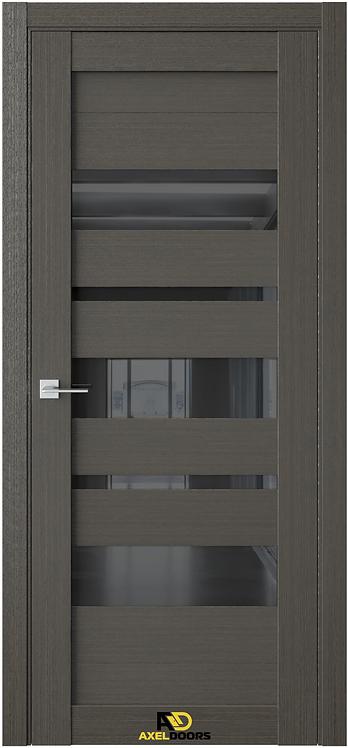 AxelDoors Q 13 межкомнатная дверь с черным стеклом