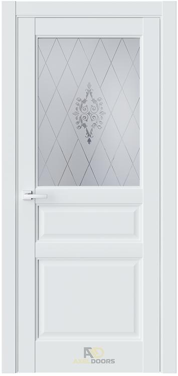 AxelDoors ЧДК SE8 межкомнатная дверь со стеклом