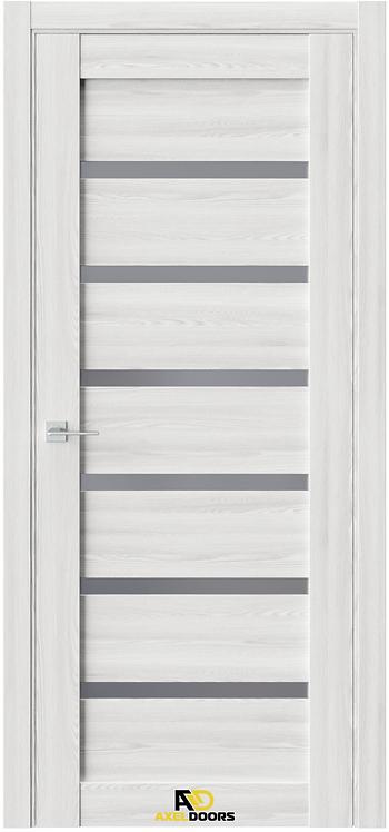 AxelDoors Q 12 межкомнатная дверь с черным стеклом