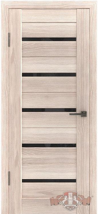 ВФД Лайн Л1ПГ1 межкомнатная дверь с черным стеклом