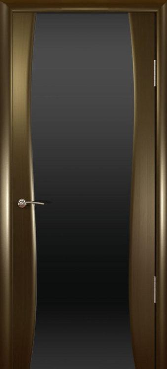 Океан Буревестник-2 межкомнатная дверь черное стекло