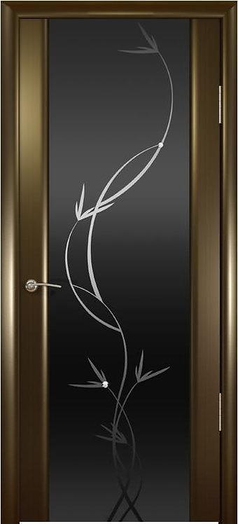 Океан Гламур Шторм-3 Гламур межкомнатная дверь черное стекло