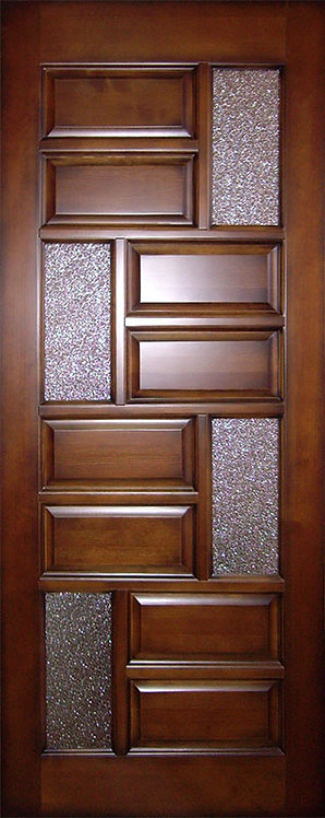 Межкомнатная дверь K-4 из массива сосны со стеклом