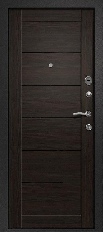 Ретвизан Орфей 211 (хай-тек) входная дверь черный сатин