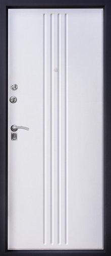 Алмаз Н-7 входная дверь белый шелк
