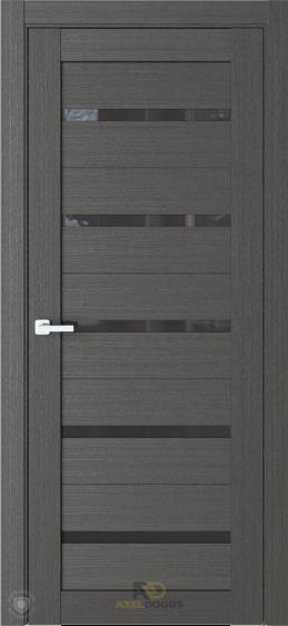 AxelDoors ЧДК R1 межкомнатная дверь с черным стеклом