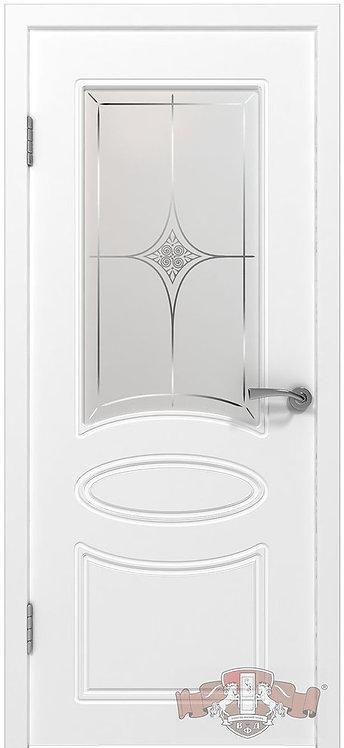 ВФД Эмаль Олимп межкомнатная дверь со стеклом