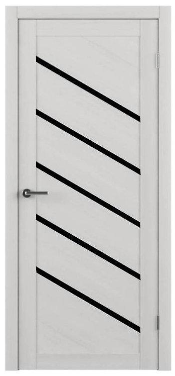 Альберо Тренд Т-11 межкомнатная дверь черное стекло