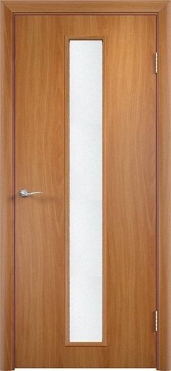 Olovi  гладкая межкомнатная дверь со стеклом L2