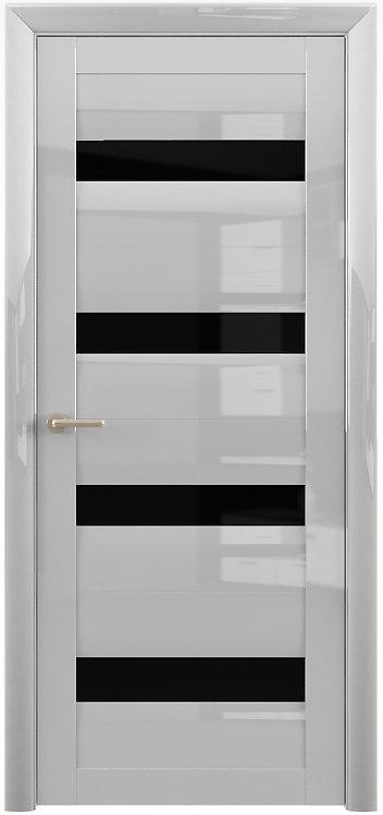 Альберо Мегаполис GL Барселона межкомнатная дверь черное стекло