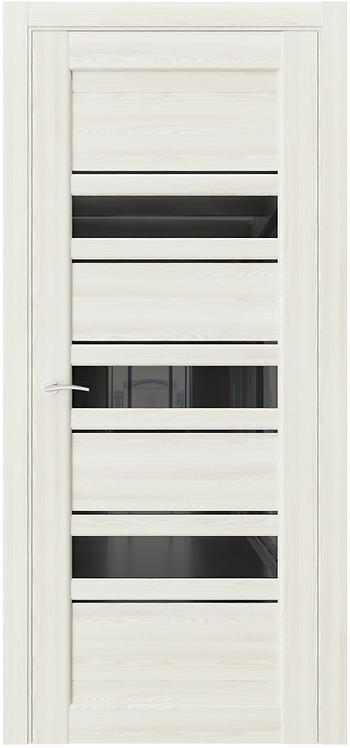 AxelDoors Q X3 межкомнатная дверь с черным стеклом