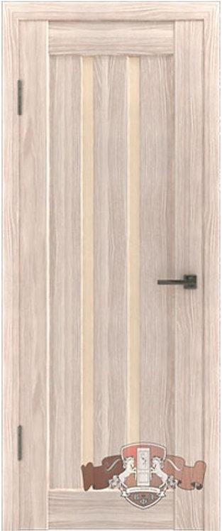 ВФД Лайн Л2ПГ1 межкомнатная дверь с матовым бежевым стеклом