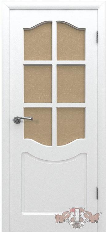 ВФД Эмаль Классика межкомнатная дверь с матовым бронзовым стеклом