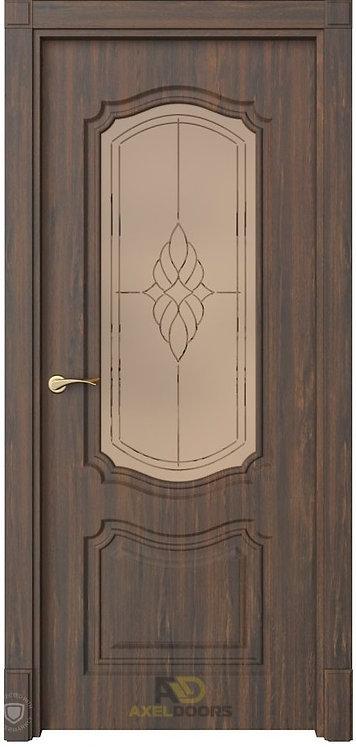 AxelDoors ЧДК Эмилия межкомнатная дверь со стеклом