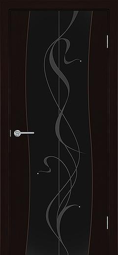 Альфа Г5 межкомнатная дверь черное стекло