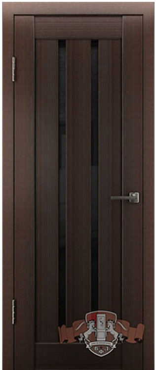 ВФД Лайн Л2ПГ4 межкомнатная дверь с черным стеклом