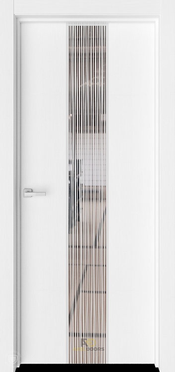 AxelDoors ЧДК Экзотика-6 межкомнатная дверь с зеркальным стеклом