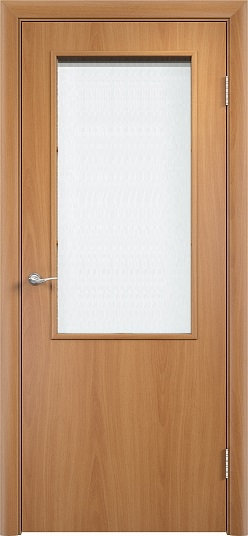 Olovi  гладкая межкомнатная дверь со стеклом L1